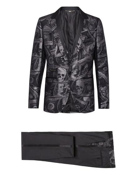 Suit 3 pcs jacquard Dollar