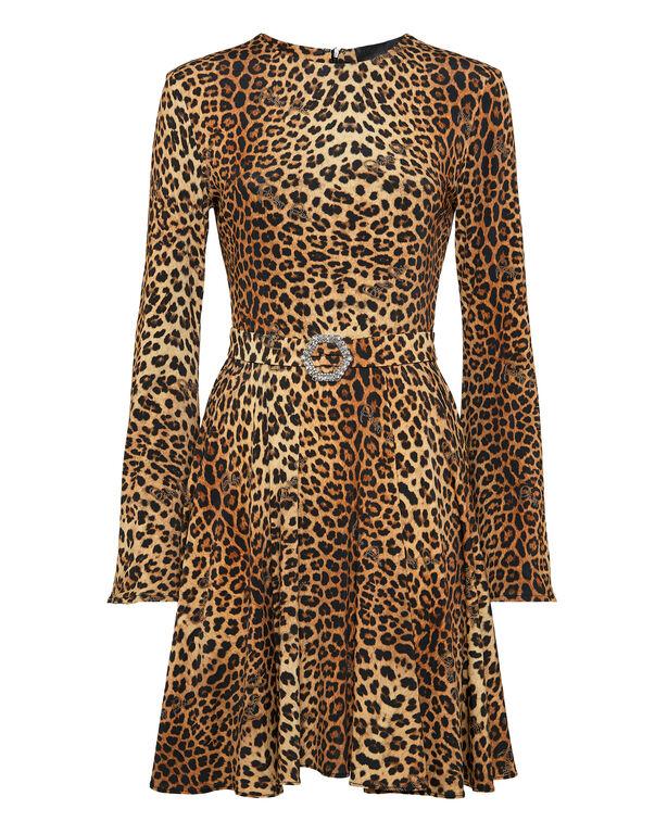 Short Dress Gilda Leopard