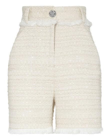 Bouclé Short Trousers Embroidery
