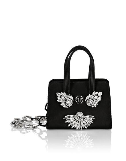 Nylon Handle bag Crystal Brooches