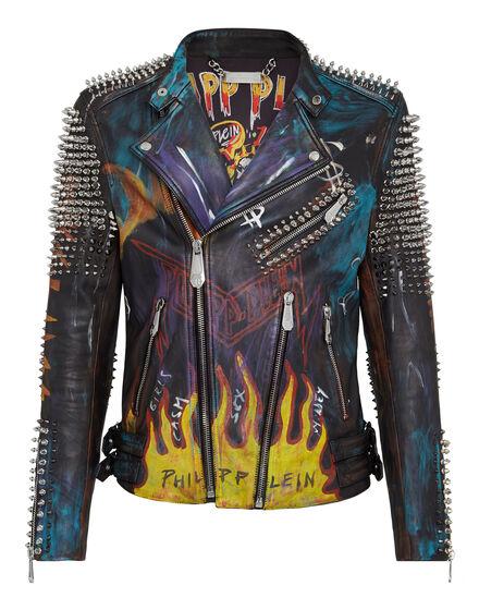 Leather Biker Evil Smile