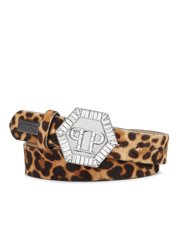 Belt stones hexagon Leopard