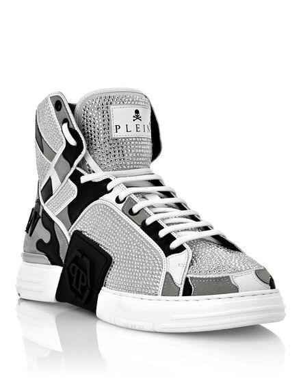 PHANTOM KICK$  Hi-Top Sneakers Camouflage