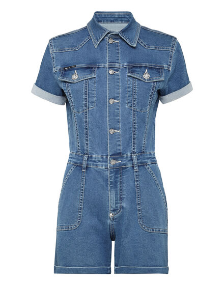 Denim Jumpsuit Iconic Plein