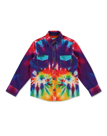 Denim Shirt Ls Tie dye