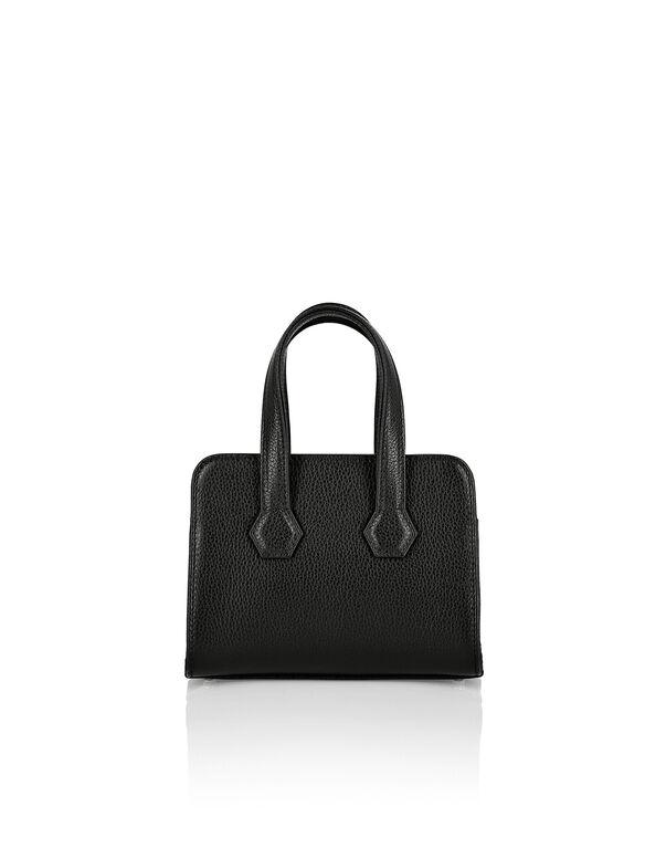 Leather Handle bag Crystal