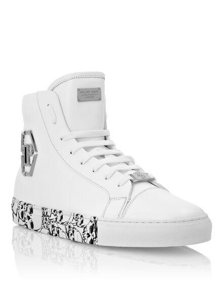 Hi-Top Sneakers hexagon and Skull