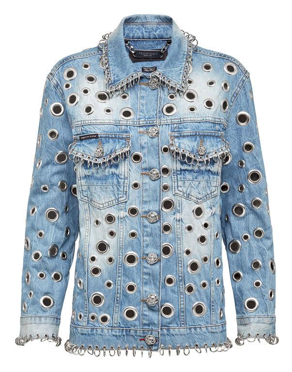 Denim Jacket Metal Rings