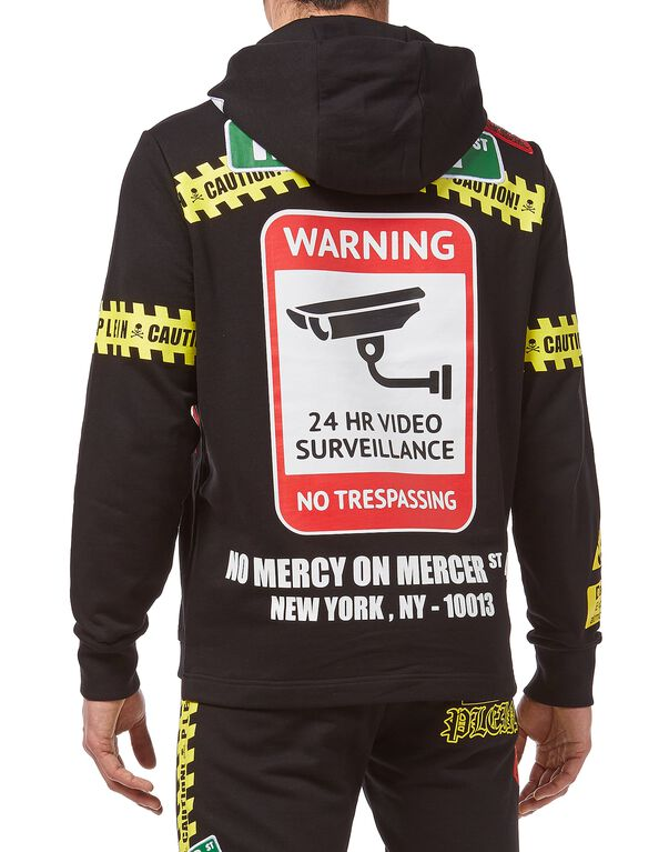 Hoodie sweatshirt MM Warning