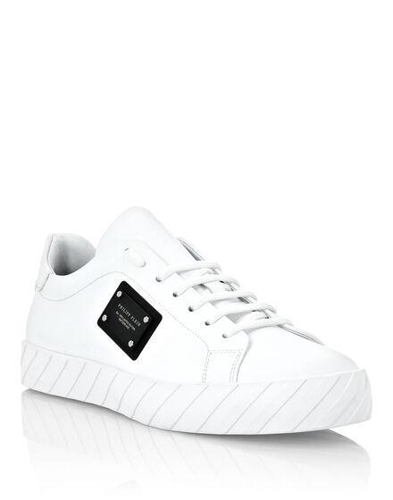 Rubber Leather Lo-Top Sneakers Iconic Plein