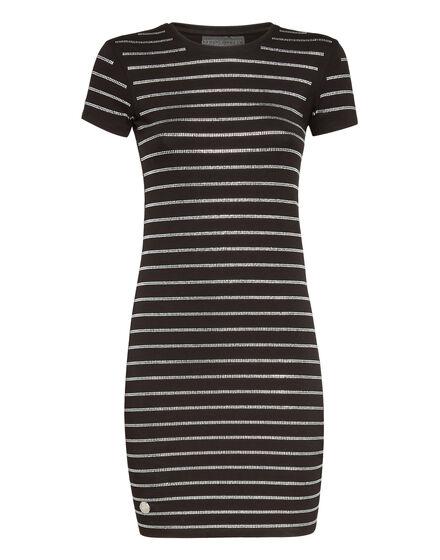 Short Dress Crystal stripes