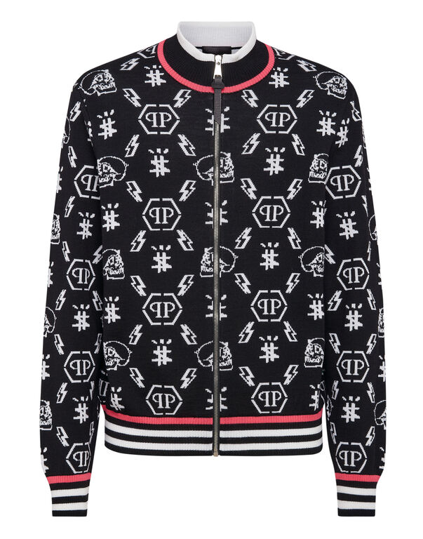 Merino wool jacket Jacquard Monogram