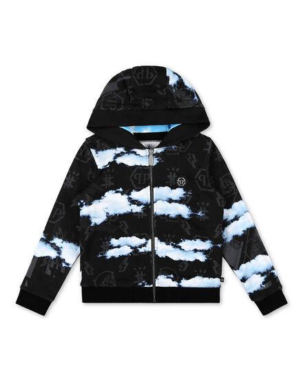 Hoodie Sweatjacket Clouds