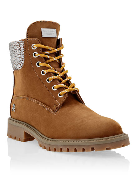 Nabuk Boots Low Flat Crystal The Hunter