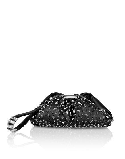 Leather Mini Pillow bag studs Stars