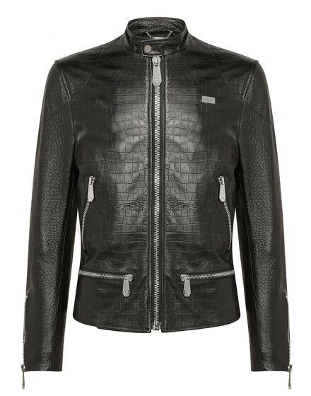 Leather Moto Jacket Statement