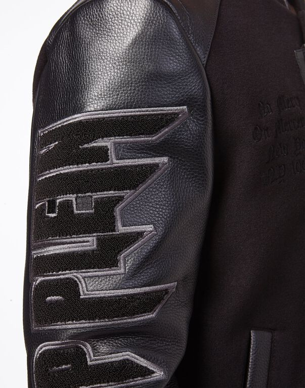 Leather Bomber MM Skull