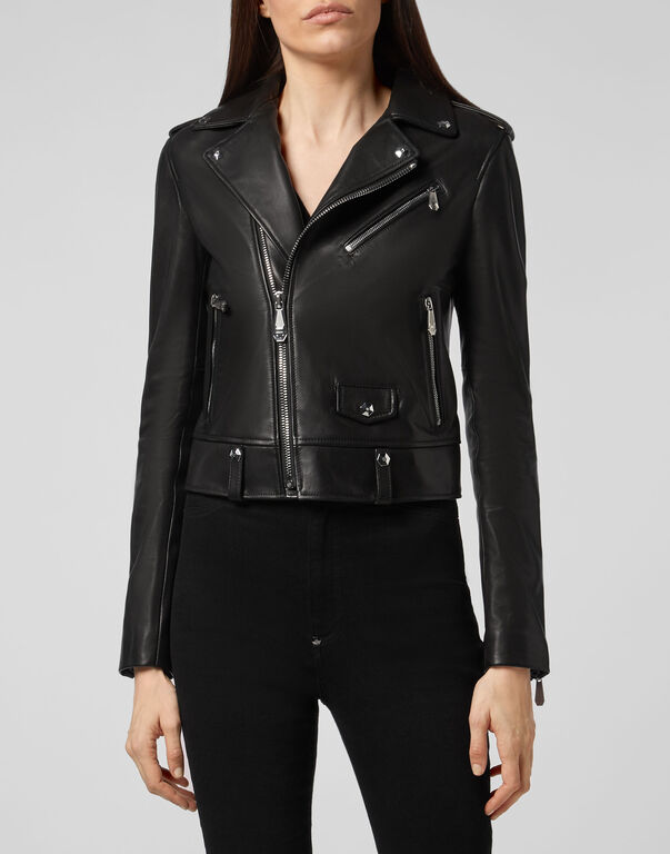 Leather Biker Look at me Flame