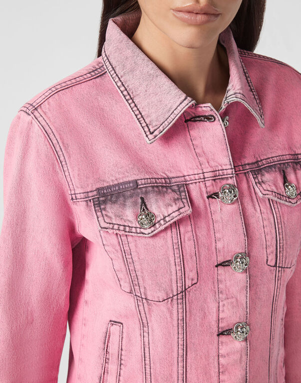 Denim Jacket Colorful
