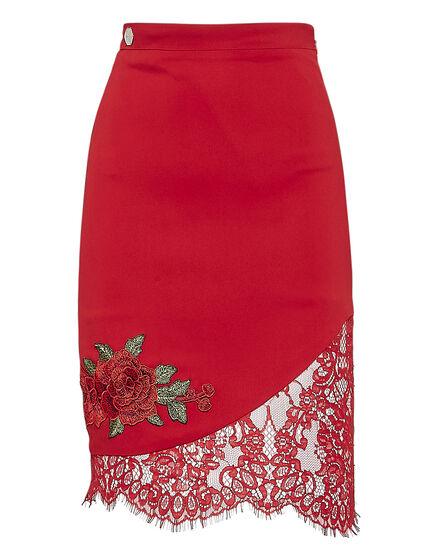 Short Skirt Pizzo Sea