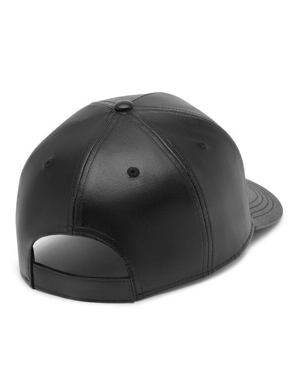 Leather Baseball Cap Iconic Plein