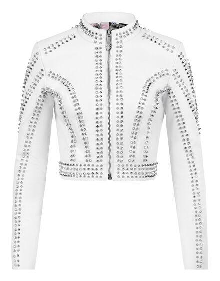 Leather Moto Jacket Studs