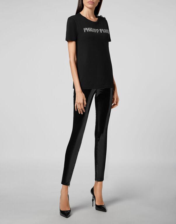 T-shirt Round Neck SS Crystal Plein