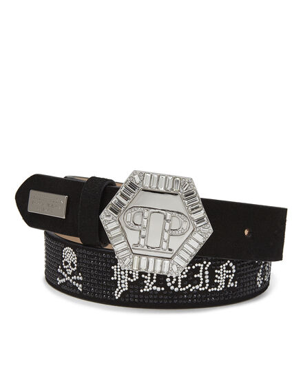 Leather Belts Crystal
