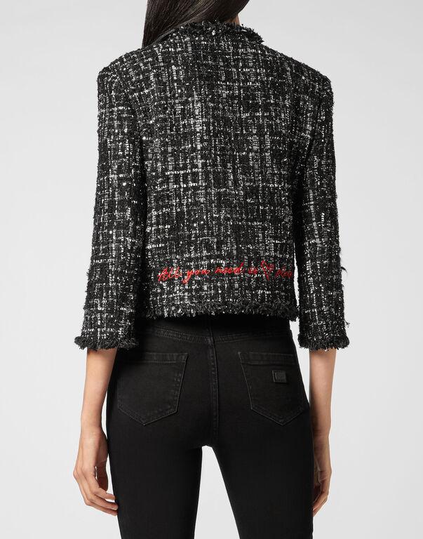 Bouclé Jacket Embroidery