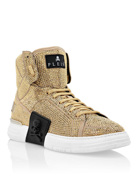 Hi-Top Sneakers Gold
