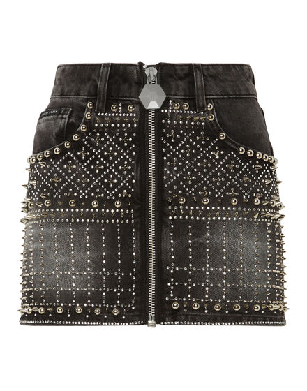 Denim Skirt Gothic Plein