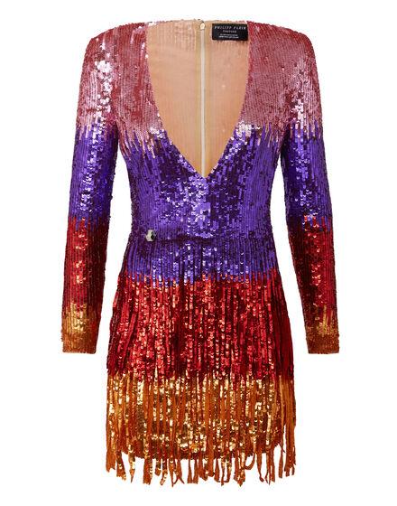 Rea Short Dress Fringe