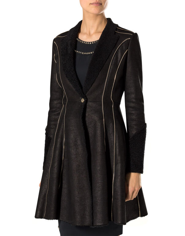 "leather coat ""wintery"""