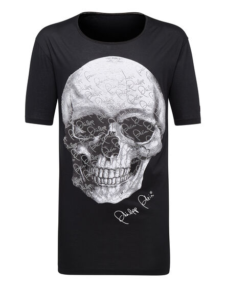 T-shirt Black Cut Round Neck Always