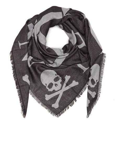Square Scarf Skull all in W