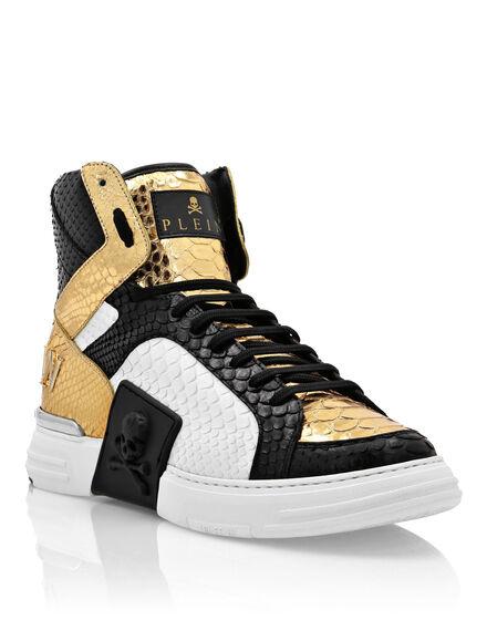 Python PHANTOM KICK$ Hi-Top Sneakers Gold