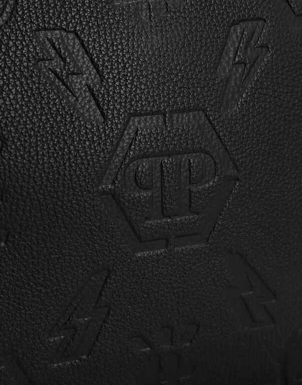 Leather Minaudiere embossed Monogram
