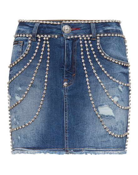 Denim Skirt Crystal