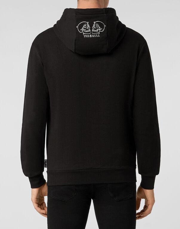 Hoodie sweatshirt Outline Skull