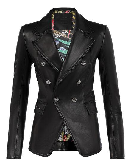 Leather Blazer Elegant