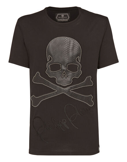T-shirt Platinum Cut Round Neck Arms