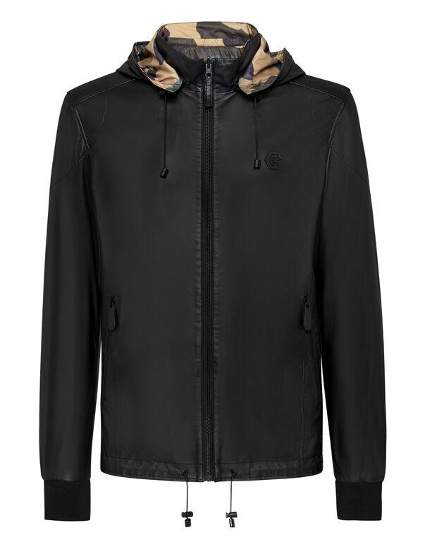 Reversibile Leather Jacket Camouflage
