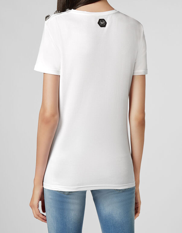 T-shirt Round Neck SS Crystal Plein