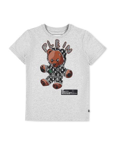 T-shirt Round Neck SS stones Teddy Bear