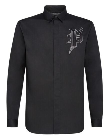 Shirt Diamond Cut LS Gothic Plein