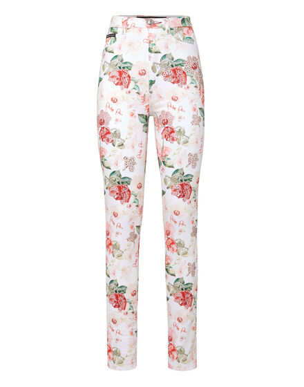 Super High Waist Jegging Flowers