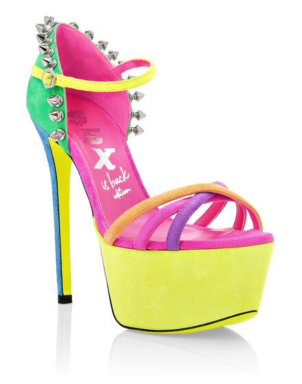 Sandals High Heels Colorfull