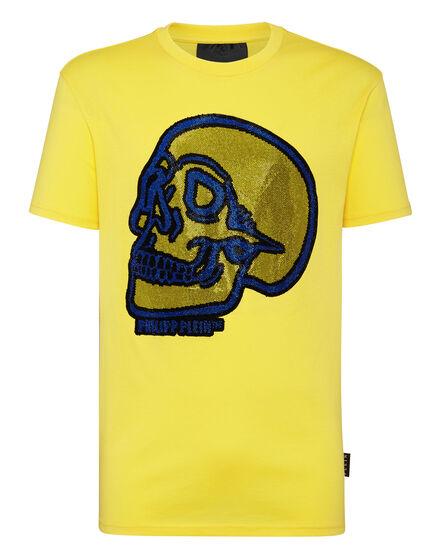 T-shirt Round Neck SS Crystal outline Skull