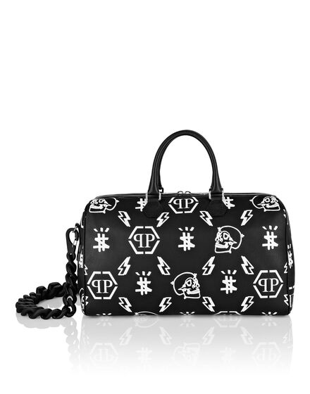 Leather Medium Travel Bag print Monogram
