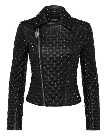 Leather Biker Every time you leave me Studs